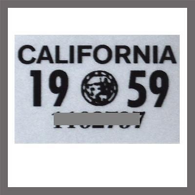 1959 California Yom Dmv Motorcycle License Plate Sticker   Tag Ca   1956 Plate