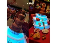 Chocolate fountain hire based in Manchester SLUSH MACHINE ..and FRESH COTTON CANDY available