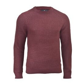 Crosshatch Mens Jumper Knitted Crew Neck Wool Mix Sweater Knitwear S, M, L, XL