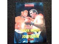 Frank Bruno vs Joe Bugner 1987 Official Souvenir Brochure Wembley Stadium