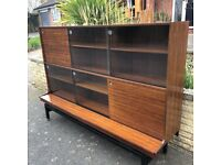 Mid-century G plan Librenza Tola and Black Bookcase / Tall Sideboard / Shop Unit