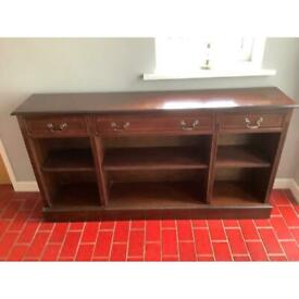 Mahogany bookcase with drawers