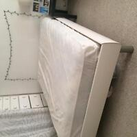 Double platform bed and mattress