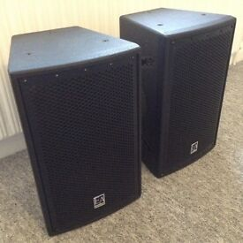 Pair Of Executive Audio S8 S Series 2-Way Passive Speakers With Cables.