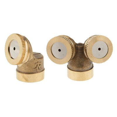 2x Brass Spray Misting Nozzle Sprinkler Head For Garden Lawn Farm Irrigation