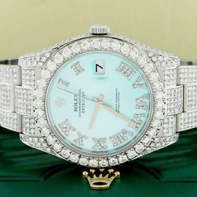 Rolex Datejust II 41MM Oyster 116300 w/14.1Ct Diamond Dial, Bezel & Bracelet