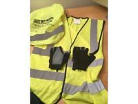 Cycling suede gloves 🌟Free high viz 🌟Free hi viz backpack cover +