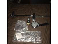 Thermostatic Bar Mixing Valve, Riser, Hose and Shower Head. (Chrome 3 Function Shower Set)