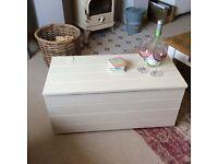 Cream wooden chest