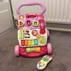 Vtech First Steps Baby Walker & Tiny Touch Remote