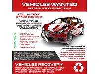 VEHICLES WANTED CARS VANS 4x4s SPARES OR REPAIRS DEAD OR ALIVE
