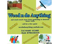 Gardening , painting , window cleaning , and much more