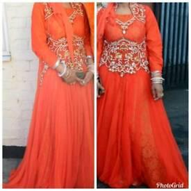 Orange Indian maxi/gown dress