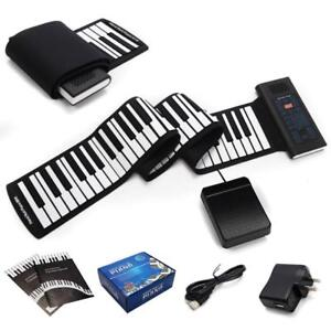 88 Keys Roll Up Piano Electronic Music Keyboard Silicone Rechargeable w/Pedal - BRAND NEW - FREE SHIPPING