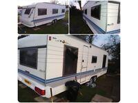 Hobby twin axle caravan