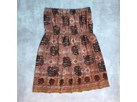 Vintage paisley patterned bandeau dress. Size xs