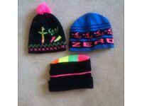 Three ski hats