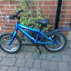 Child's Blue ridgeback bike