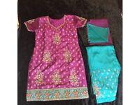 Ladies clothes indian silk punjabi suit