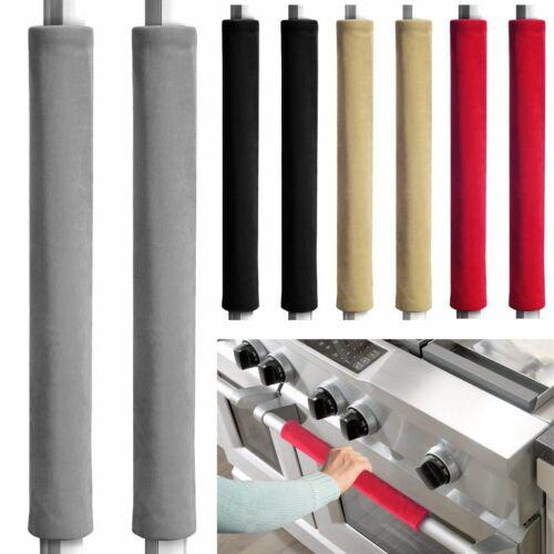 2Pcs Refrigerator Door Handle Cover Kitchen Appliance Protector Smudges Decor