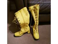 Yellow Pic Boots