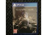 Pickup only. Middle earth shadow of war ps4