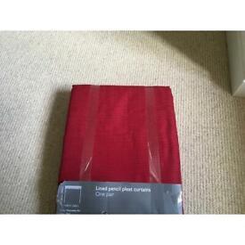 Brand New Dark Red Curtains.