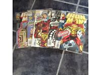 Marvel comics Iron Man issues #306-9, 311, 313 mint condition