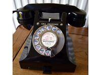 VINTAGE GPO BAKELITE TELEPHONE - circa 1956