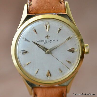 VACHERON & CONSTANTIN CHRONOMETER ROYAL Ref 6111 18K YELLOW Cal P1008 RARE 50's
