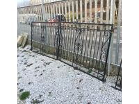 Reclaimed double metal gates approximate 6 feet sections