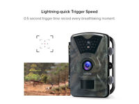 Wildlife Trail Camera Trap 12MP 1080P HD Infrared Cam With Night Vision Wide Angle Motion Activated