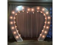 Light up love arch