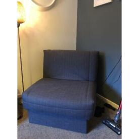 Grey folding chair-sofa-bed