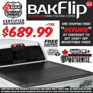 BAKFlip 66 G2 Hard Folding Tonneau Cover for 2014-2018 Silverado and Sierra 1500 | Save $500 | Factory Refurbished