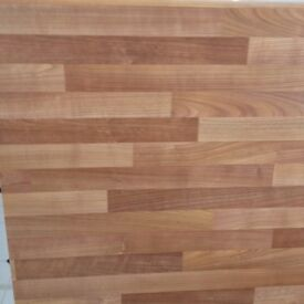 Un-used Laminate Cherry Block Worktop & Upstand