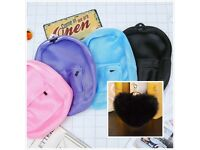 Fashion Women Girls Ladies Backpack Travel Bag Rucksack Net+bk heart keyring