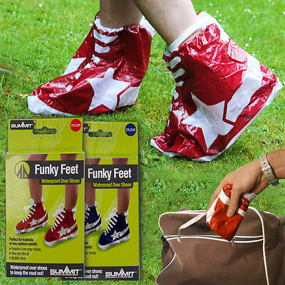 WATERPROOF FESTIVAL OVER SHOES COVER FUNKY FEET OUTDOOR MUD RAIN WET DISPOSABLE