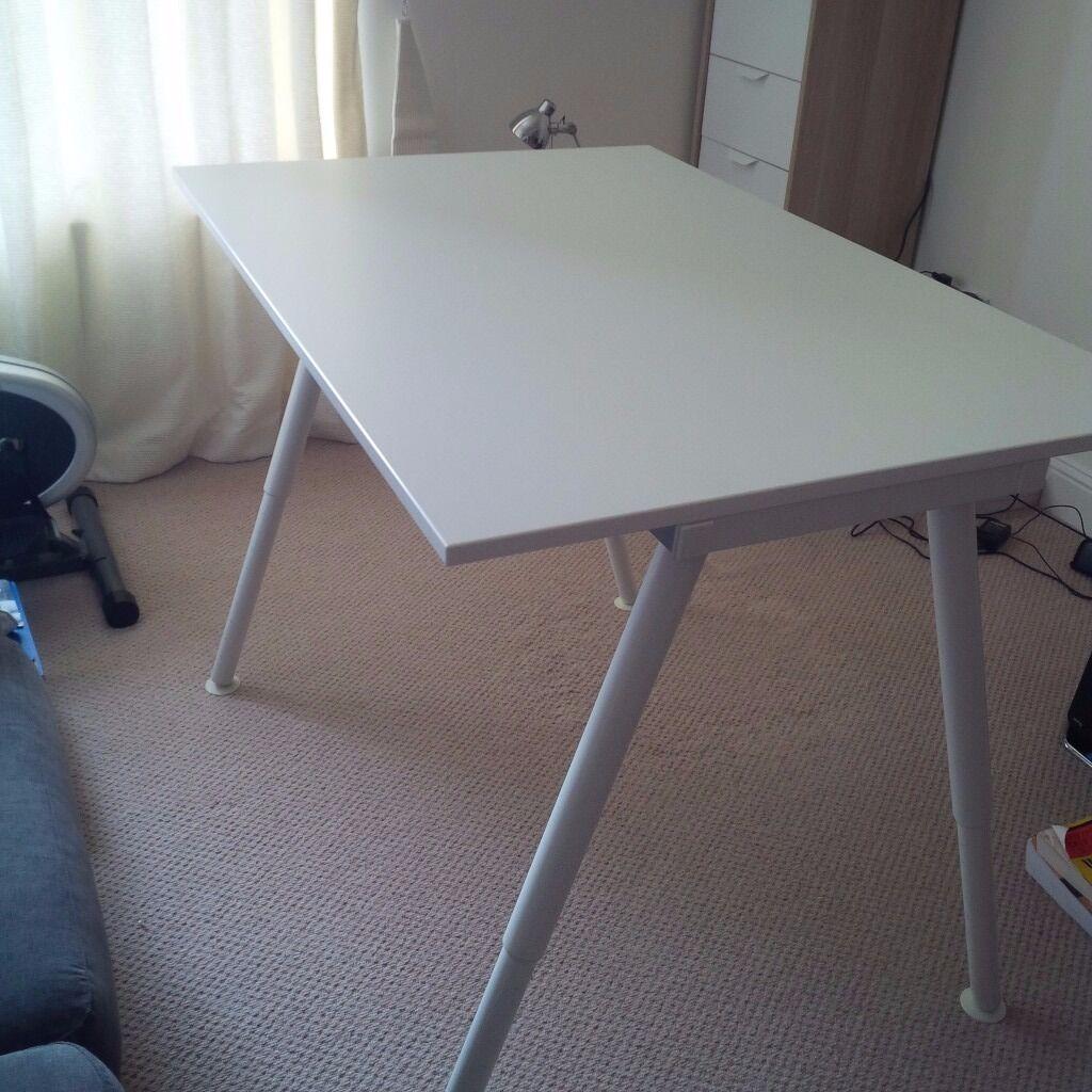 Ikea Galant Desk With Adjule Legs White 120x80cm