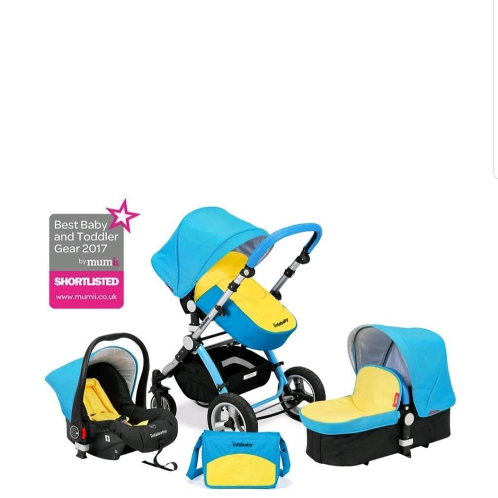 Uberchild Infababy Evo 3 In 1 Travel System Pushchair Pram Infant Car Seat