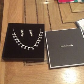 Jon Richards pearl and diamanté set