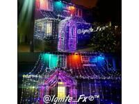 Wedding and Christmas led lights and gates