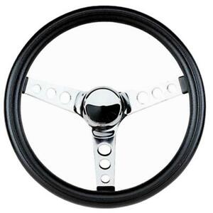 Grant Classic Series Steering Wheel 838 | Motorwise.ca | Chrome 3 Spoke Design | In stock and Ready to Ship