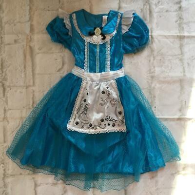 Alice In Wonderland Costume Age 10 (Disney Alice In Wonderland Girls Costume Fancy Dress Outfit Age 9 -)