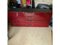 Red Gloss Sideboard