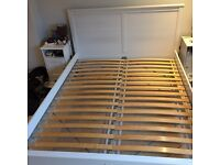 EXCELLENT CONDITION King size white bed frame