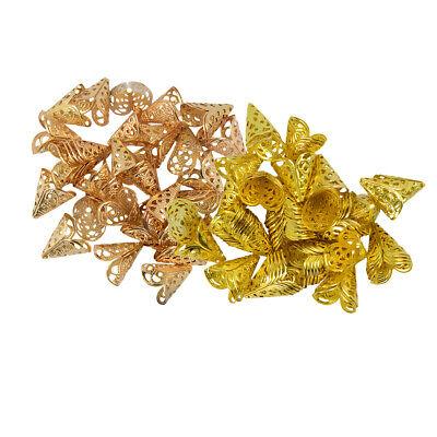 100 Stü Filigrane Kegel Blume Perlen Cap Bead End DIY Schmuck Machen (Blume Perle Caps)