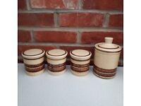 Vintage Royal Worcester Palissy 1960/70's storage jars x 4