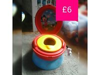 Boys 2 in 1 mickey mouse stall and potty
