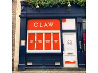 -Claw -Chefs needed for new restaurant - Sous chef, Chef de partie, Commis £25k-£30k